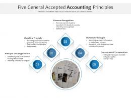 Five General Accepted Accounting Principles