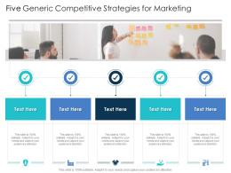 Five Generic Competitive Strategies For Marketing Infographic Template