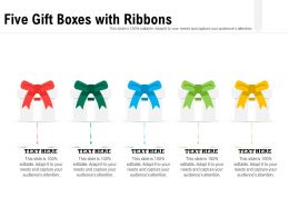 Five Gift Boxes With Ribbons
