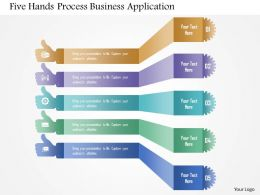 Five Hands Process Business Application Powerpoint Templates