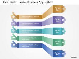 five_hands_process_business_application_powerpoint_templates_Slide01