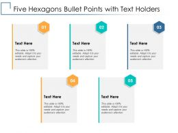 Five Hexagons Bullet Points With Text Holders