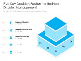 Five Key Decision Factors For Business Disaster Management