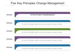 Five Key Principles Change Management Ppt Powerpoint Presentation Ideas Styles Cpb