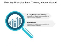 Five Key Principles Lean Thinking Kaizen Method Customer Segments Cpb