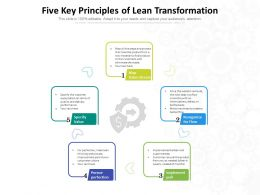 Five Key Principles Of Lean Transformation
