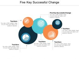 Five Key Successful Change Ppt Powerpoint Presentation Ideas Grid Cpb