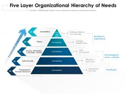 Five Layer Organizational Hierarchy Of Needs