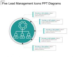 Five Lead Management Icons PPT Diagrams