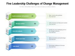 Five Leadership Challenges Of Change Management