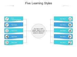 Five Learning Styles Ppt Powerpoint Presentation Pictures Professional Cpb
