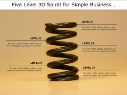 Five Level 3d Spiral For Simple Business Process