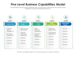 Five Level Business Capabilities Model