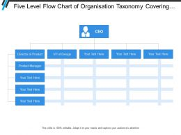 Five Level Flow Chart Of Organisation Taxonomy Covering Classification Of Position