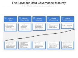 Five Level For Data Governance Maturity