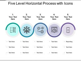 Five Level Horizontal Process With Icons