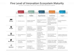 Five Level Of Innovation Ecosystem Maturity