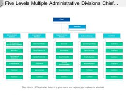 Five Levels Multiple Administrative Divisions Chief Org Chart