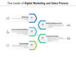 Five Levels Of Digital Marketing And Sales Process