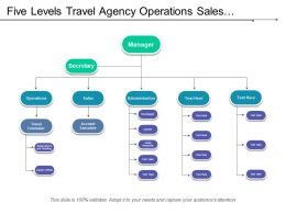 Five Levels Travel Agency Operations Sales Administration Org Chart