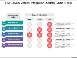 Five Levels Vertical Integration Industry Value Chain