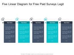 Five Linear Diagram For Free Paid Surveys Legit Infographic Template