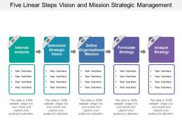 Five Linear Steps Vision And Mission Strategic Management