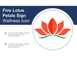 Five Lotus Petals Sign Wellness Icon