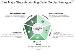 five_major_steps_accounting_cycle_circular_pentagon_Slide01