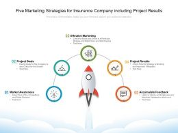 Five Marketing Strategies For Insurance Company Including Project Results