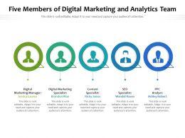 Five Members Of Digital Marketing And Analytics Team