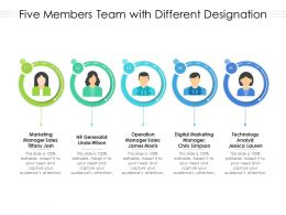 Five Members Team With Different Designation