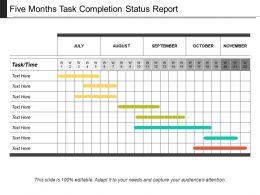 five_months_task_completion_status_report_Slide01