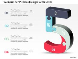 Five Number Puzzles Design With Icons Powerpoint Template