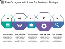 Five Octagons With Icons For Business Strategy
