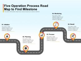 Five Operation Process Road Map To Find Milestone