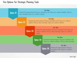 Five Options For Strategic Planning Tools Flat Powerpoint Design