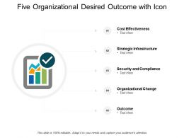 Five Organizational Desired Outcome With Icon