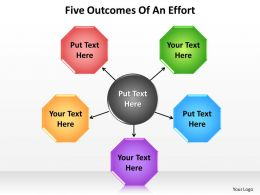 five outcomes of an effort arrows powerpoint diagram templates graphics 712