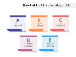 Five Part Post It Notes Infographic