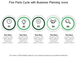 Five Parts Cycle With Business Planning Icons