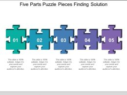 Five Parts Puzzle Pieces Finding Solution