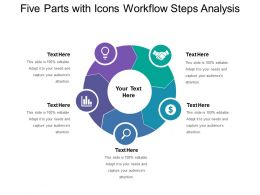 Five Parts With Icons Workflow Steps Analysis