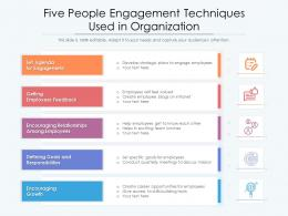 Five People Engagement Techniques Used In Organization