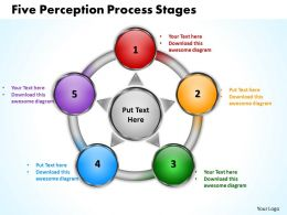 five perception process stages powerpoint templates graphics slides 0712