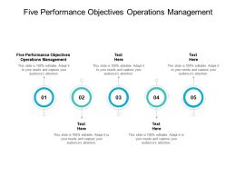 Five Performance Objectives Operations Management Ppt Powerpoint Pictures Cpb