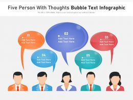 Five Person With Thoughts Bubble Text Infographic
