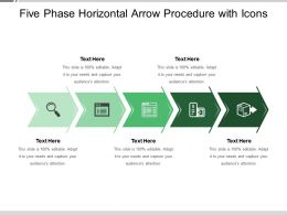 Five Phase Horizontal Arrow Procedure With Icons