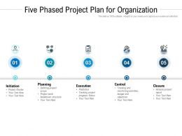 Five Phased Project Plan For Organization