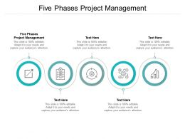 Five Phases Project Management Ppt Powerpoint Presentation Portfolio Deck Cpb